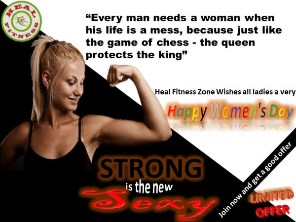 Heal Fitness Zone offering a wide range of Fitness programs wishes all ladies a very Happy Women's Day... Ladies join us for our great limited offers from 5th-15th March... Hurry Up
