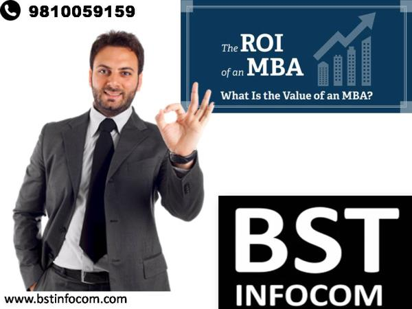 MBA In Delhi  ROI (Return on Investments) of an MBA Degree  The Graduate Management Admission Council (GMAC), indicated in its 2007 Global MBA® Graduate Survey that MBA degrees continue to lead their holders to increased salaries and that m - by BST INFOCOM - Call 9810059159, New Delhi