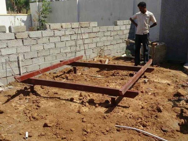Coffee table a parcola roof into the garden - by DREAMZ CONSTRUCTION SOLUTIONS, Coimbatore