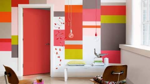 Create an eclectic interior--express yourself with bold blocks of colours...  Choudhary paints & h/w-- asian paints colour idea store Sec-47 Malibu towne  - by Choudhary Paints & Hardware 9910105327, Gurgoan