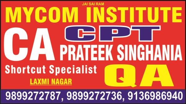 best ca team in laxmi nagar. best cpt team in laxmi nagar. mycom institute are providing best ca team in laxmi nagar. - by mycom institute, laxmi nagar