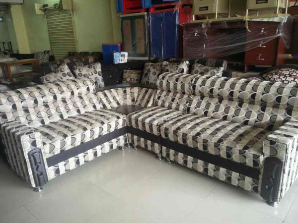 Now only two day only one set 9*7 size l type sofa set market prices 26500 two day offering price 16800 only one set  - by mahadevi furnitures, opp lingampally bus stand A square building , below sony electronics Bhel X Road