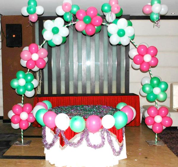 "We make your party venue look like a whole new world altogether where every item is strategically placed to enhance the ambiance of the party and make your day even more special.  ""Balloon Decoration Organizers"".  - by Balloon Decorators 