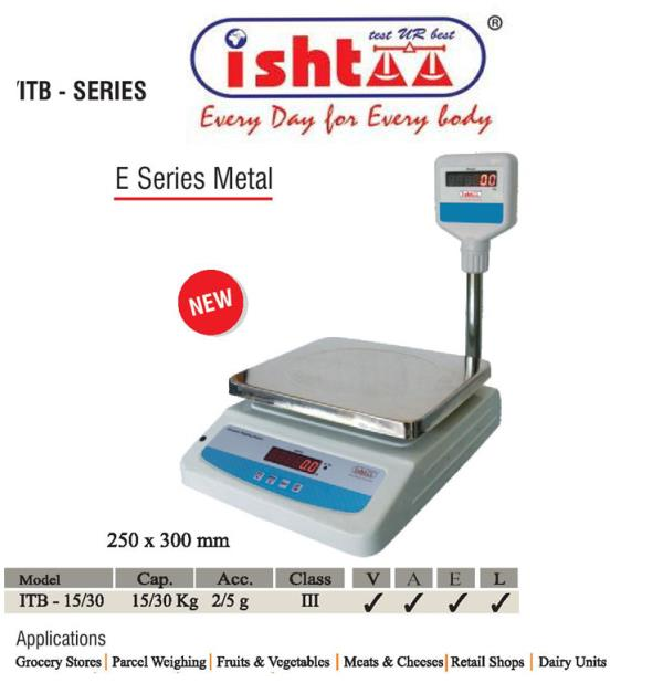 Best Table Top Scale Manufacturers in South India.   Ishtaa - Coimbatore High resolution with fast response time Metal body with dust cover weighing scale Strong, Aesthetic look & finishing Rechargeable battery backup Auto zero tracking facility Nett / Gross facility Overload Indication High bright LED display Parcel weighing scale Dairy units weighing scale Meats & cheese weighing scale Grocery weighing scale Fruits & vegetable weighing scale   The One Stop solution for all types of Electronic Weighing Scales We Make, You Weigh High Performance Weighing Scales are Chiseled here.. To Buy Now, Call: 09843016028 Mail: online@ishtaascales.com Website:www.ishtaascales.com