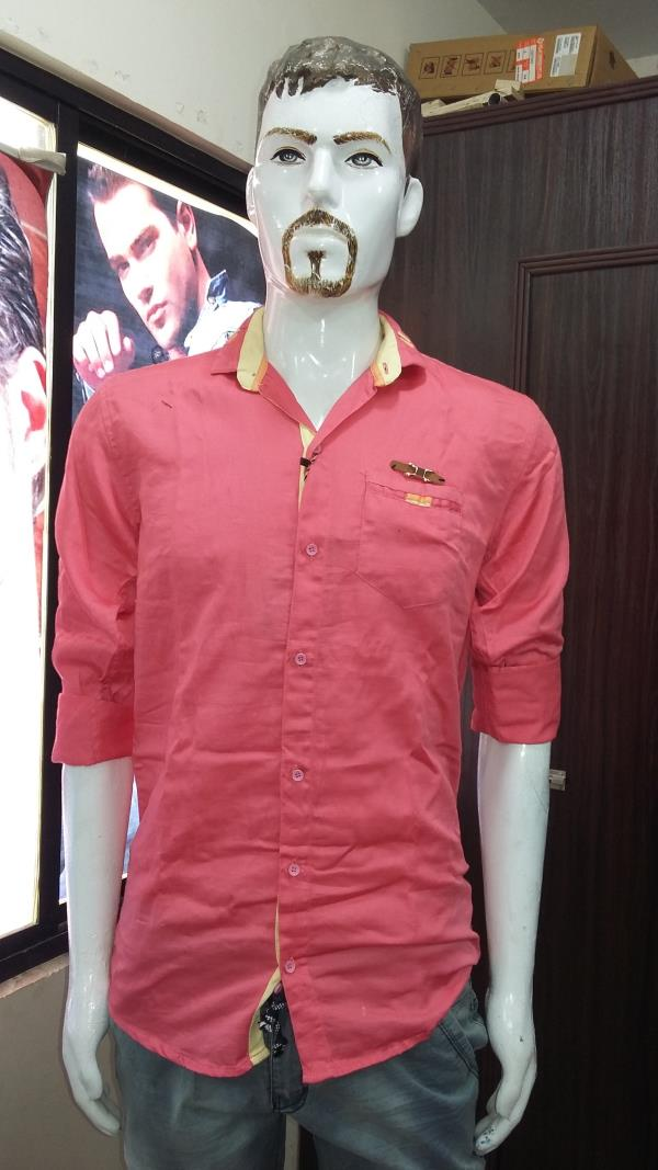 shirt ; styile plain made in india size m.l.xl..xxl - by Veera Menswear & Childrenswear, Alta