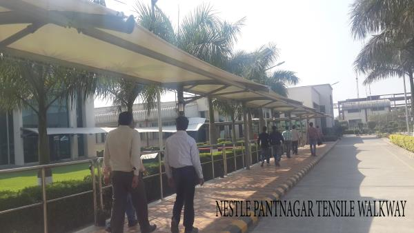 We are recently completed a Walkway Path Tensile Structure of Nestle  - by Tensile Structure, Gurgaon