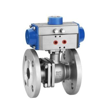 Pneumatic  Ball Valve .Well aligned assembly. Accurately machined bracket & coupler. Perfect location. Ease in dismounting even without affecting valve functional position.Longer life due to extra over travel  MATERIAL : Forged steel / Stai - by Ezzi Enterprises -- An ISO 9001 : 2008 Certified Company, Hyderabad