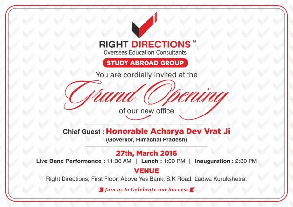 www.rightdirectionsoverseas.com - by Right Directions, Yamunanagar
