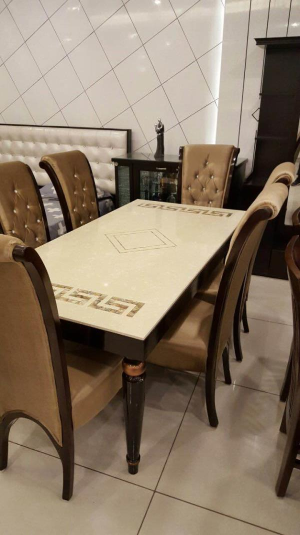 Coming up soon...Teak Wood Dining Sets with Marble top... INR 85000 - by Modern Living, Hyderabad