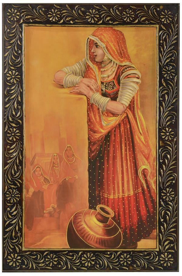 Ramraj Ambuj Unique Emboss Painting (60cm X 92cm) by Ramraj 1 offer from    1, 999.00 Frame Material: Wood Colour: Multi Color Size/Dimensions: 60cm X 92cm Package Contents: 1 Ambuj Painting Weight: 4.100 kg - by Ramraj, Jodhpur