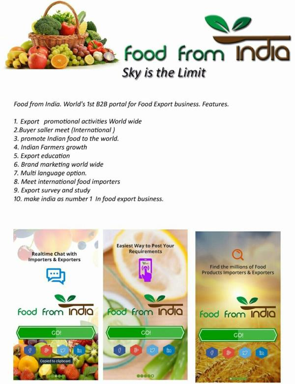 Services at Your Fingertips  Global Exposure , Instant Inquiry , Potential buyers - by FOODFROMINDIA, Dubai