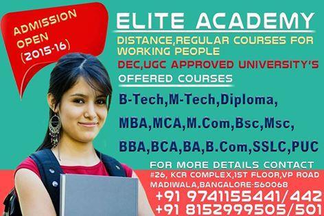 MBA Correspondence Courses in Bangalore - by Elite Academy, Bengaluru