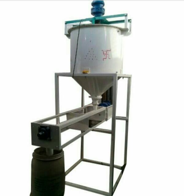 Starch Powder filler machine available at Parmar welding works in Rajkot , Gujarat , India