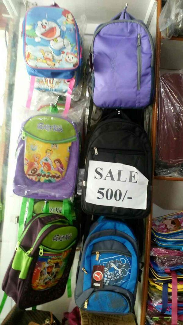 Sale on School Bag in Chandigarh visit in our store get discounts on School Bag    - by Vishal Suitcase House, Chandigarh