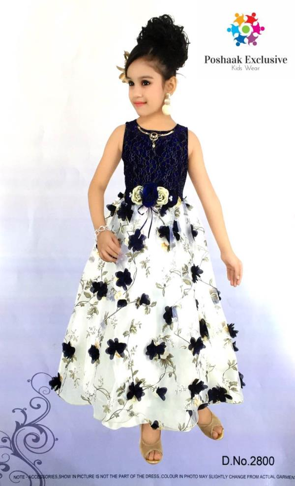 Designer Gown- Available in sizes: 22, 24, 26, 28, 30 - by Poshaak Exclusive, Hyderabad