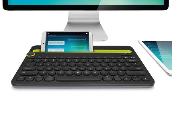 All new Logitech Bluetooth Multi- Device Wireless Keyboard now available at out stores... The Computer Keyboard.... that also works with your tablet and smartphone Switch easily between devices A familiar keyboard layout with shortcut keys for PC and Mac, as well as smartphones and tablets.. Type in comfort..