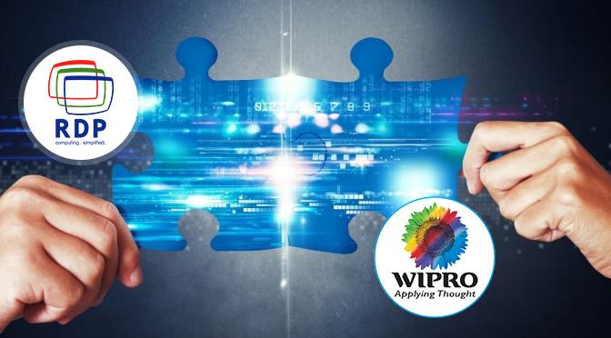 RDP has tie up with Wipro to strengthen its Global Presence in IT Infra  Thin Clients in Mumbai | Virtual Desktop In Mumbai | VDI Clients in Mumbai   RDP Announced its alliance with Wipro by extending its End Point devices for VirtuaDesk So - by RDP, Mumbai