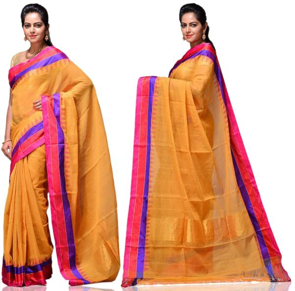 Price: - 9000/-   New designs of khadi sarees, khadi cotton silk sarees, khadi cotton fabric, khadi silk sarees. Sign up now for E-book you will be updated with latest collection of ethnic verities. For More Info Click on :- www.uppada.com  - by Paithani, Hyderabad