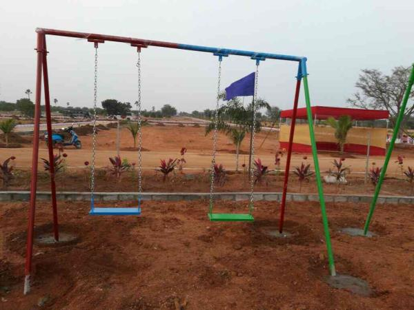 park play equipment manufacturing in Hyderabad  swing 2setats with fiber seats