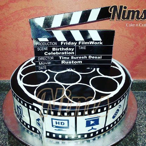 Cake delivered by us to the sets of rustom today, the stars Akshay Kumar and Esha Gupta & the crew are shooting in pune and Relished our cake in minutes. For amazing Personalized Cakes, Designer Cakes and Customized Cakes, call 8888884747.  - by Nim's Cake & Craft, Pune