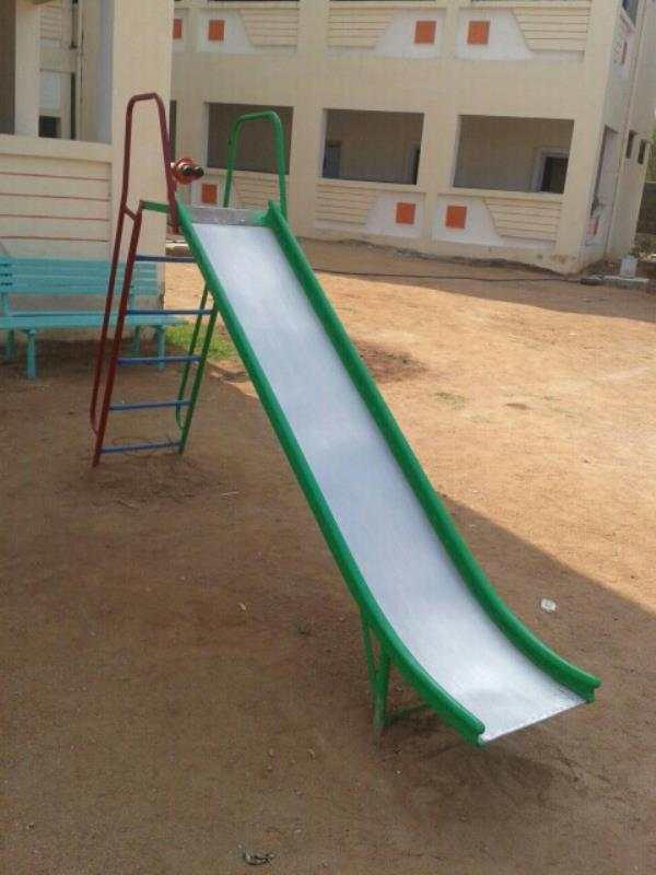 play ground equipment fiber manufacturing in Hyderabad  G.I slide 12feet with ladder