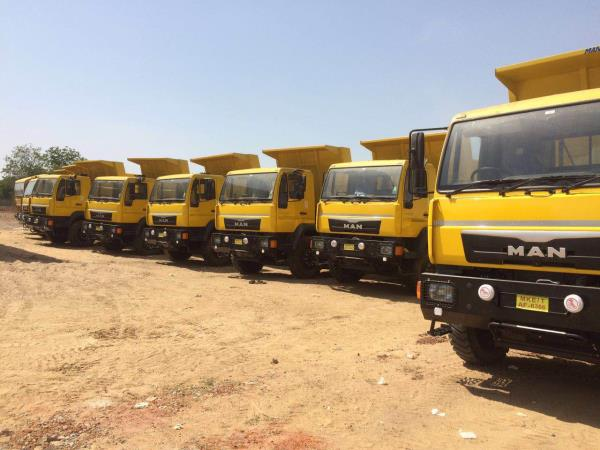 Tippers for mining industry also for garbage handling used by municipal authorities