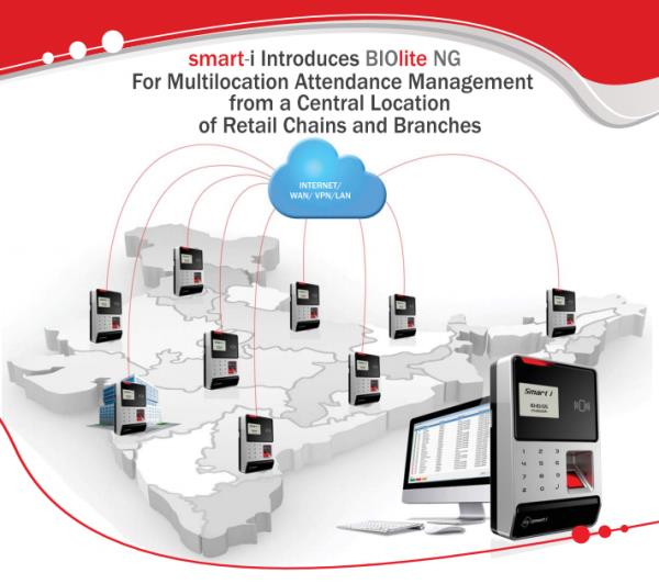 Multi Location Time Attendance system with Central Management is no more Difficult to handle with Smart i Biolite Plus.  - by Falcon Infosystem, Pune