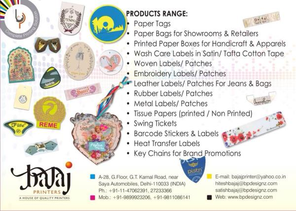 SWING TICKETS AND TAGS IN BENGALURU.  We have Variety of Materials and Finishes available for you to customize your perfect swing tickets:   Boards available for your Swing Ticket or Swing Tag include Matt, Gloss, Colored, Box Board, Cast-Coated, Mirror Finished and 100% Recycled Product.   We can also make your Hang Tags in Fabric, Plastic, Leather , Rubber , Metal or Wood.   From die-cutting to any Shape, Eyelets, Strung or unstrung, Laminated, Varnished, with Hot Foil blocking, Embossing, Bar coding and Variable data.  For more info : www.bpdesignz.com