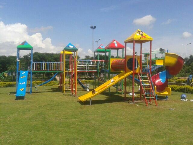 kids play ground equipment manufacturing in Hyderabad  5pillar multi play systems with sprial slide