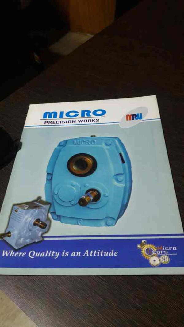 we are the leading manufacturer of SMSR Gearbox (Holdback system), Worm reduction gearbox, Helical Gearbox , Quarter Turn Valve Worm Gearbox in ahmedabad..... - by Micro Precision Works, Ahmedabad