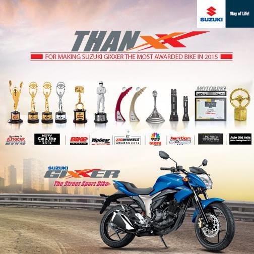 Suzuki Gixxer 155CC the Street Sports Bike. - by Priyanka Motors Pvt Ltd, Hyderabad