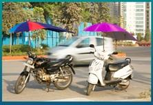 Two Wheeler Umbrella  is useful for all your bikes and scooters