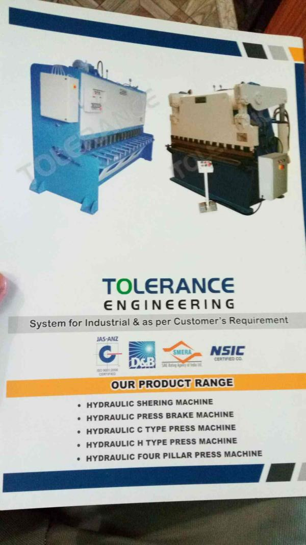 we are the leading manufacturers of Shearing machine in ahmedabad - by Tolerance, Ahmedabad