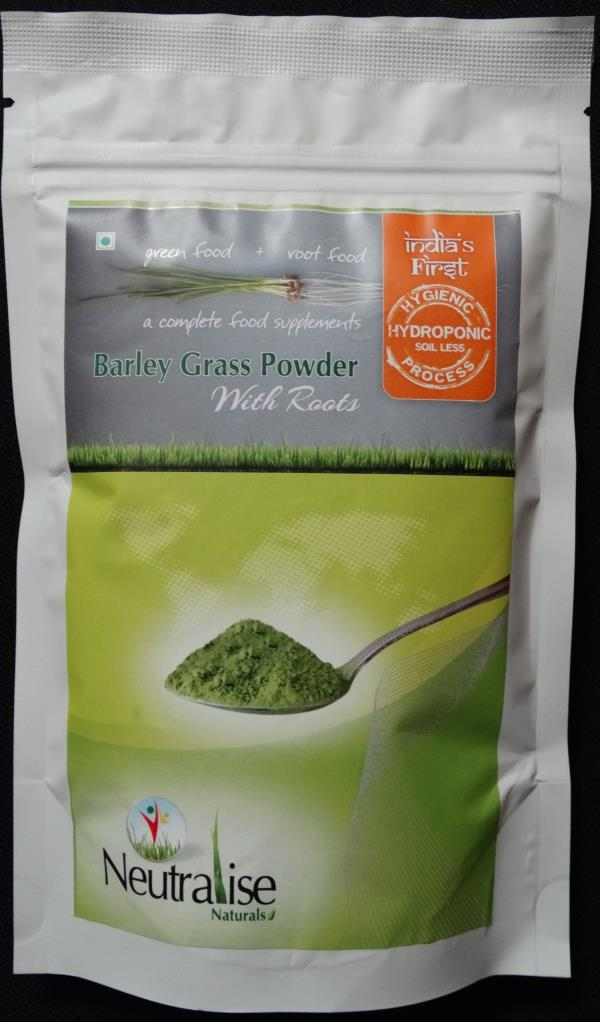 Barley Grass powder with roots We are India's first Barley Grass powder with roots manufacturers grown in Hydroponic process. Under this process we grow the grass for 7 days and dehydrated under shade.  - by Neutralise, Hyderabad