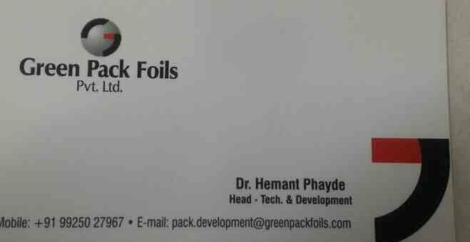 plz contact for blister foils, aluminium foils in india  - by Green Pack Foils Pvt Ltd , Ahmedabad