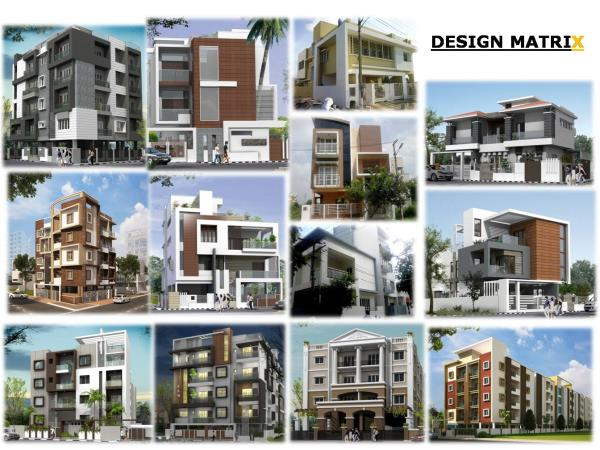 Architects designers in South Bangalore  we are designing all kinds of apartments and commercial complex - by Design Matrix, Bengaluru