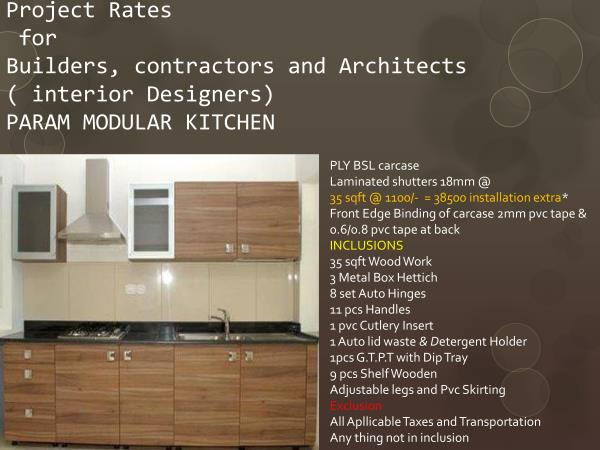 best rates for buiders projects architects and interior designers