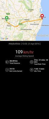 Ride from Bengaluru to Chennai by Abrar Bin Ayub One heck of a ride, we think. Speaks volumes about the rider! Track and share your ride stories on the ‪#‎BoltRidersApp‬ ‪#‎GetBolted‬ - by The Bolt Club | Smart Mobile-Phone Charger for Motorbikes, Delhi