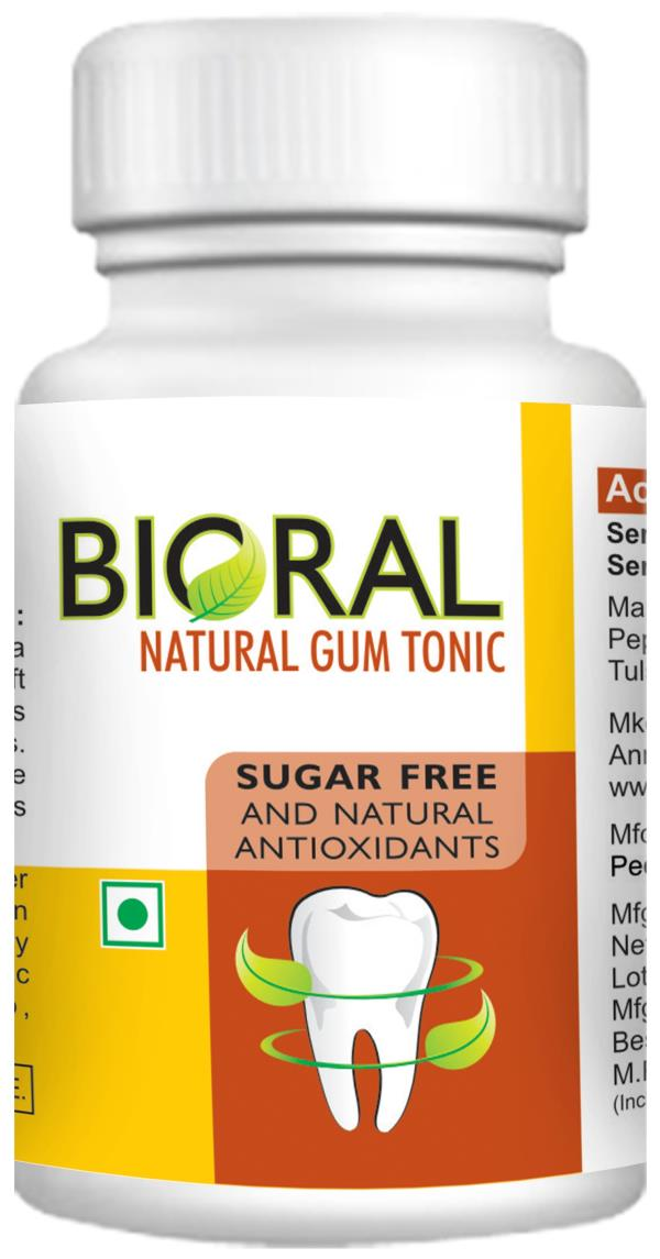 Bioral - Natural Gum Powder   Protect your smile..... Naturally...   Bioral Gum Powder that is acknowledged for its fine quality and efficacy. The range has set a benchmark of quality and is processed under hygienic conditions. Safe to use, these products have acknowledged by renowned dentists and other experts of this field.   Timed Tested  Faster Action  All Natural Ingredients  Free from preservatives & detergents  Prevent tooth decay  Bio Absorption & Desensitization.   The herbal combination of black pepper, black salt, turmeric  powder and cinnamon may help in reducing the symptoms of dentin hypersensitivity over a prolonged use thrice daily.