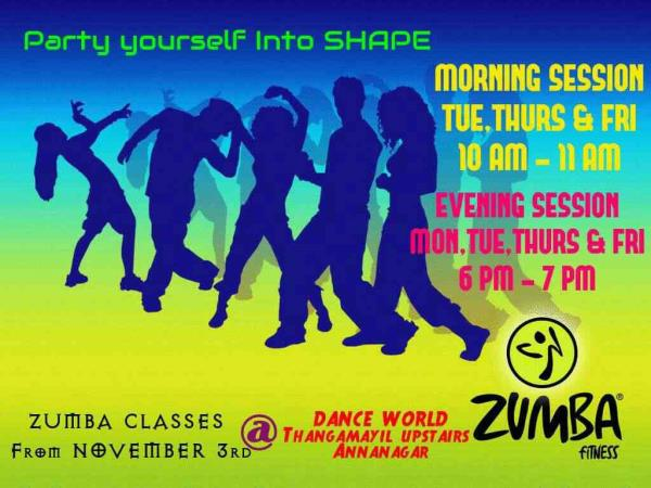 Best Zumba Classes In Anna Nagar - by Divine Dance&fitness studio 9786995537, madurai