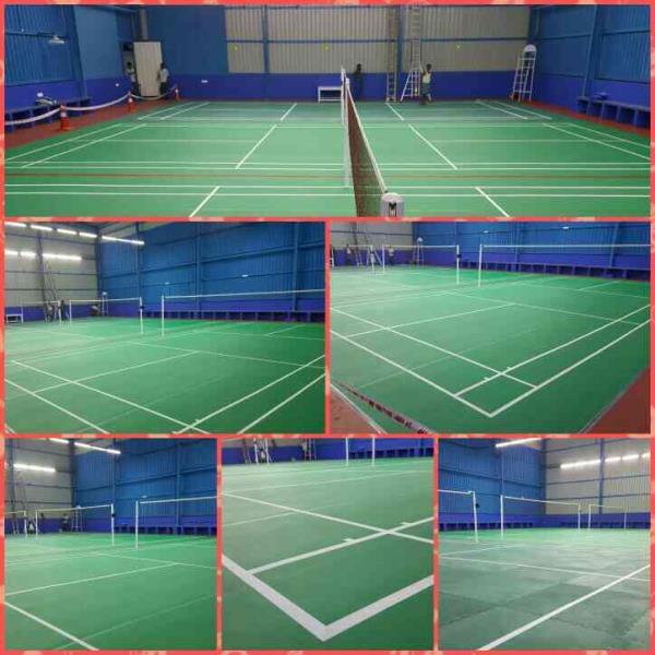 Sprungz Badminton court flooring
