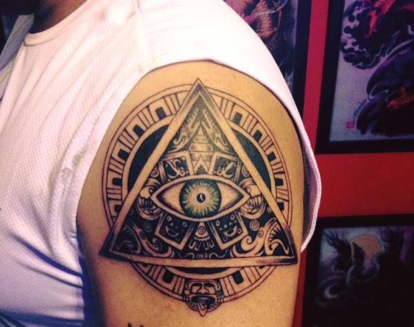 Tribal#Mayantattoos#AztecTattoos#Arm tattoo#Courage#strength# - by Xtreme Tattoos Studio, Bangalore