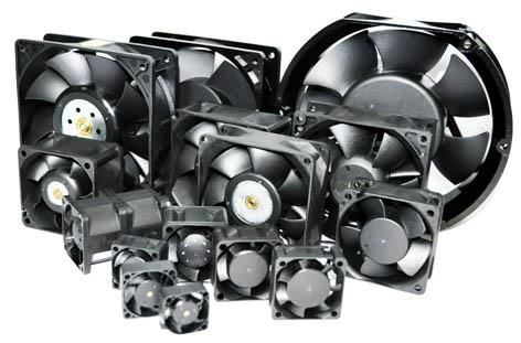 DC Fans are available in 12Volts, 24Volts, 48Volts and 220Volts. In general, AC cooling fans have motors that use higher voltage than DC cooling fans, so the AC models are often used to produce high pressure air currents in systems that will not malfunction because of the fan's electromagnetic interference. Most DC cooling fans operate at low voltage. You can generally find 5V, 12V and 24V versions; and in larger sizes, from 119mm to 172mm, in 48V. In comparison, 115V is one of the most common AC cooling fan models.  Ana-Dig Electronics - DC Fans Dealers in Delhi
