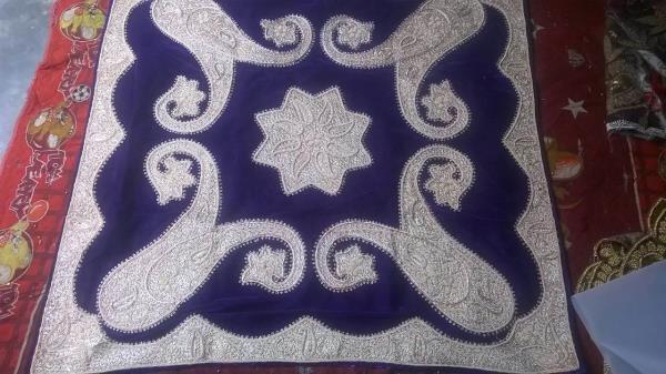 Dabka work Chana velvet  - by Deen  International +91-9350857219, Tehran