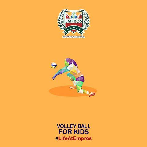 VOLLEY BALL  ADMISSIONS OPEN!!!  NURSERY TO IV  FOR ONLINE ADMISSIONS http://asmempros.org/online-admissions.php - by ASM Group of Institute, Pune