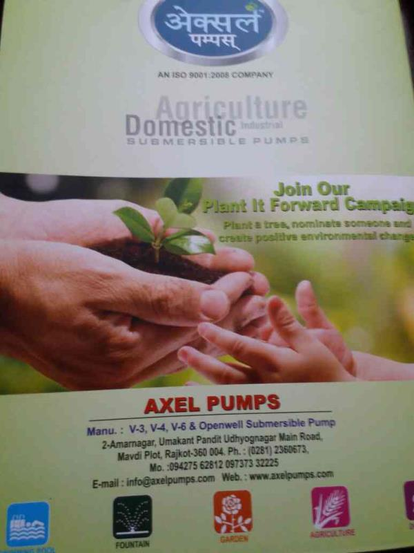 We are Manufacturers and Suppliers of All Type of AgriCulture subnersible pump in Rajkot-Gujarat - by Axel Pumps, Rajkot
