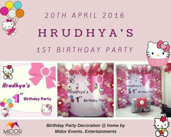 We thank Hrudhya's Mom & Dad for giving us this opportunity www.midor.in #hellokittytheme #birthdayparty #midorevents #midorentertainments