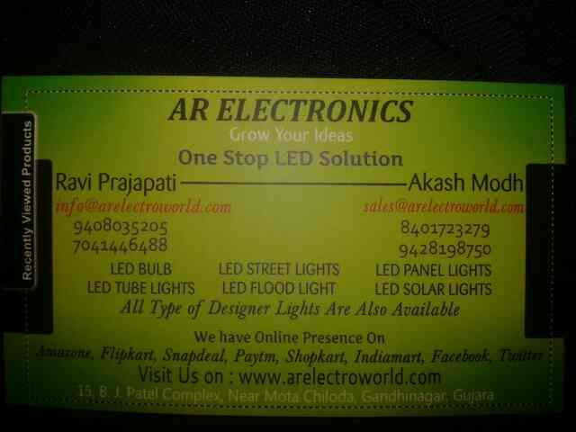 we are leading manufacturer of led light with wide range    for more info click on www.arelectroworld.com