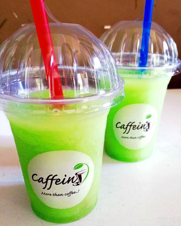 #hot #summer #high #temperature #cool #green #apple #slush #caffein #baroda - by Caffein More than Coffee, Vadodara