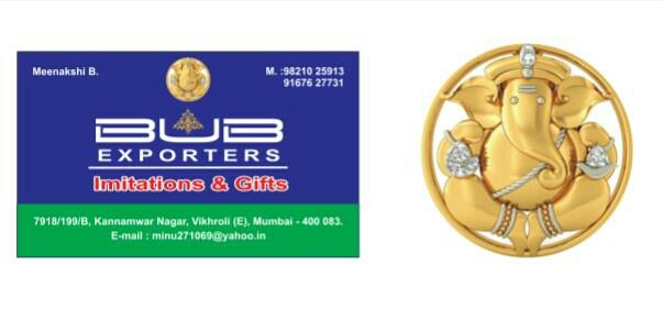 One of the leading Exporters of imitation jewellery & Gift Articles  - by BUB EXPORTERS, Mumbai